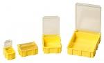 WARMBIER - 5101.Y.880 - SMD-Klappbox, gelb mit transparentem, metallisiertem Deckel, 16x12x15 mm, WL32240