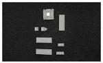 WARMBIER - 4550.10.0253 - PE foam for storage container, hard, black, 253x353x10 mm, WL38808