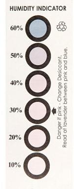 WARMBIER - 3785.1060.CF - Feuchtigkeitsindikator, für DRY SHIELD Verpackungsbeutel, WL35484