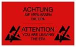 WARMBIER - 2850.150300.R.DE - Warnschild, PVC, rot , 150x300 mm, deutsch/englisch, WL33935