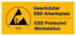 "WARMBIER - 2850.4090.DE - Warnaufkleber ""ESD Arbeitsplatz"", WL20398"