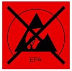 WARMBIER - 2850.3030.R - ESD-Symbol, Typ EPA, rot/ durchgestrichen - Aufkleber, WL32228
