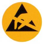WARMBIER - 2850.6 - Warnschild, rund, Papier, 6 mm, WL19653