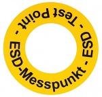WARMBIER - 2822.1.MP.DE - Bodenmarkierungsaufkleber ESD-Messpunkt, gelb, PVC, WL27137