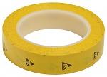WARMBIER - 2820.25433.Y - ESD adhesive tape PVC, yellow, 25,4 mm x 33 m roll, WL32232