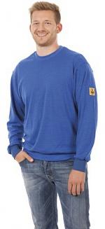 WARMBIER - 2671.SS.B.S - ESD Sweatshirt langarm, blau, unisex, S, WL32070