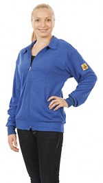 WARMBIER - 2671.SJ.B.XS - ESD Sweatjacke langarm, blau, unisex, XS, WL32082