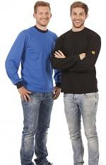 WARMBIER - 2647.T.S - ESD T-Shirt langarm, blau, unisex, S, WL31991
