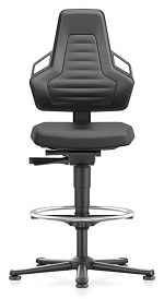 BIMOS - 9031-2000-3285 - Laboratory chair NEXXIT 3, with glider and foot ring, integral foam, anthracite handles, WL43915