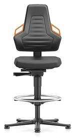 BIMOS - 9031-2000-3279 - Laboratory chair NEXXIT 3, with glider and foot ring, integral foam, orange handles, WL43916