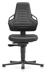 BIMOS - 9030E-MG01-3218 - ESD chair NEXXIT 1, with glider, imitation leather black, ESD handles, WL43865