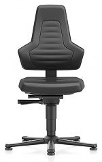 BIMOS - 9030E-MG01-3001 - ESD chair NEXXIT 1, with glider, imitation leather black, without handles, WL43920