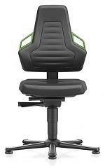 BIMOS - 9030-MG01-3280 - Laboratory chair NEXXIT 1, with glider, imitation leather, green handles, WL43892