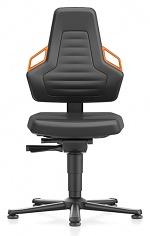 BIMOS - 9030-MG01-3279 - Laboratory chair NEXXIT 1, with glider, imitation leather, orange handles, WL43891