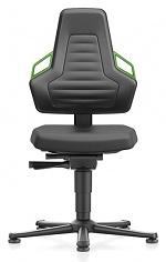 BIMOS - 9030-2000-3280 - Laboratory chair NEXXIT 1, with glider, integral foam, handles green, WL43897