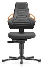 BIMOS - 9030-2000-3279 - Work chair laboratory NEXXIT 1, with glider, integral foam, handles orange, WL43896
