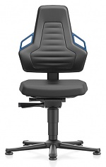 BIMOS - 9030-2000-3277 - Laboratory chair NEXXIT 1, with glider, integral foam, handles blue, WL43894