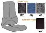 BIMOS - 705459801 - ESD neon back cushion, fabric Duotec black, WL35371