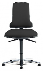 BIMOS - 9816-2571 - Sintec 160 work chair, with castors and glides, max. load 160 kg, imitation leather black, WL40485