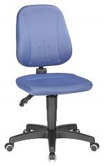 BIMOS - 9653-CI02 - Unitec 2 work chair with castors, blue fabric, WL40296