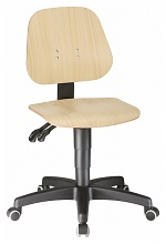 BIMOS - 9653-3000 - Work chair Unitec 2 with castors, beech natural lacquered, WL40294