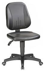 BIMOS - 9653-0551 - Work chair Unitec 2 with castors, imitation leather black, WL40297