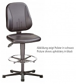 BIMOS - 9651E-9811 - ESD chair Unitec 3, with glider and foot ring, ESD fabric Duotec grey, WL40366