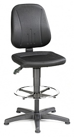 BIMOS - 9651-CI01 - Work chair Unitec 3, with glider and foot ring, fabric upholstery black, WL40300