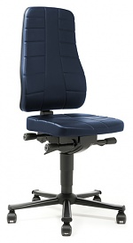 BIMOS - 9643-6902 - Work chair All-In-One Highline 2, castors, imitation leather blue, WL40246
