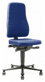 BIMOS - 9643-6802 - Work chair All-In-One Highline 2, castors, fabric Duotec blue, WL40242