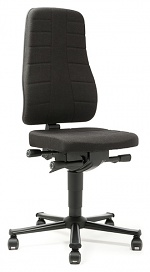 BIMOS - 9643-6801 - Work chair All-In-One Highline 2, castors, fabric Duotec black, WL40241