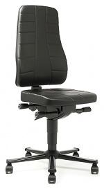 BIMOS - 9643-2571 - Work chair All-In-One Highline 2, castors, imitation leather black, WL40245