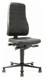 BIMOS - 9643-2000 - Work chair All-In-One Highline 2, castors, integral foam black, WL40249