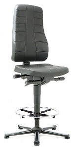 BIMOS - 9641-2000 - Work chair All-In-One Highline 3, glider and foot ring, integral foam black, WL40258