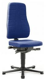 BIMOS - 9640-6802 - Arbeitsstuhl All-in-One Highline 1, Gleiter, Stoff Duotec blau, WL40233