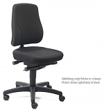 BIMOS - 9633-6802 - Work chair All-In-One Trend 2, castors, fabric Duotec blue, WL40269