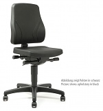 BIMOS - 9633-2571 - Work chair All-In-One Trend 2, castors, imitation leather black, WL40272