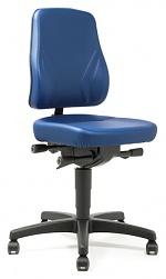 BIMOS - 9633-6902 - Work chair All-In-One Trend 2, castors, imitation leather blue, WL40273