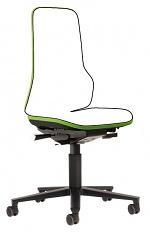 BIMOS - 9573-9999-3280 - Neon 2 work chair with castors, Flexband green Synchrontechnik, WL40162