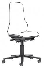 BIMOS - 9573-9999-3278 - Neon 2 work chair with castors, Flexband grey Synchrontechnik, WL40160