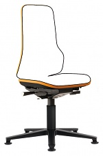 BIMOS - 9570-9999-3279 - Neon 1 work chair with glider, Flexband orange - Synchrontechnik, WL40157