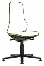 BIMOS - 9560-9999-3280 - Neon 1 work chair with glider, Flexband green, permanent contact, WL40147