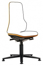 BIMOS - 9560-9999-3279 - Neon 1 work chair with glider, flex strap orange, permanent contact, WL40146