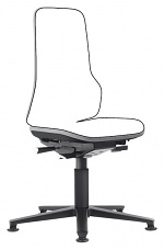 BIMOS - 9560-9999-3278 - Neon 1 work chair with glider, Flexband grey, permanent contact, WL40145
