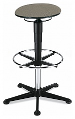 BIMOS - 9469-6811 - Stool 3, with glider and foot ring, fabric Duotec grey, WL40328