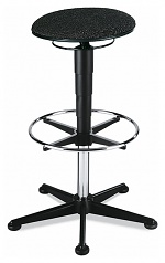 BIMOS - 9469-6801 - Stool 3, with glider and foot ring, fabric Duotec black, WL40326