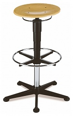BIMOS - 9469-3000 - Stool 3, with glider and foot ring, beech plywood, WL40325