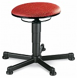 BIMOS - 9467-6803 - Stool 1 with glider, fabric Duotec red, WL40310