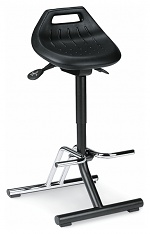 BIMOS - 9456-2000 - Standing aid, with chromed footrest, foldable, black, WL40337