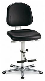 BIMOS - 9183-2571 - Cleanroom work chair Plus 3, with glider and climbing aid, backrest height 380 mm, WL33448